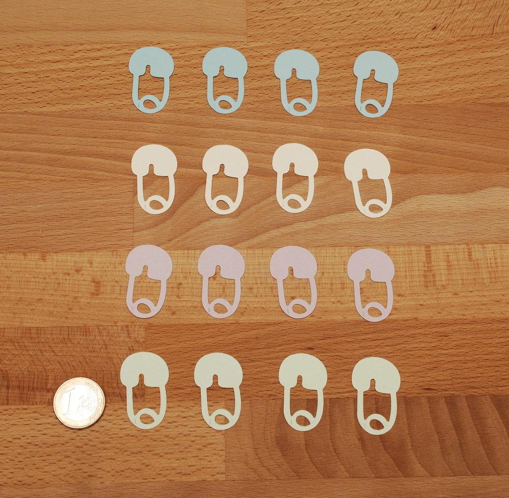 Spille pannolino bimbo in cartoncino - diaper pin