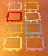 Cornici in cartoncino fustellato - Frame Scallop Ornate