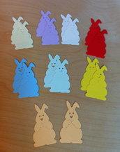 Conigli Bunny in cartoncino fustellato - abbellimenti