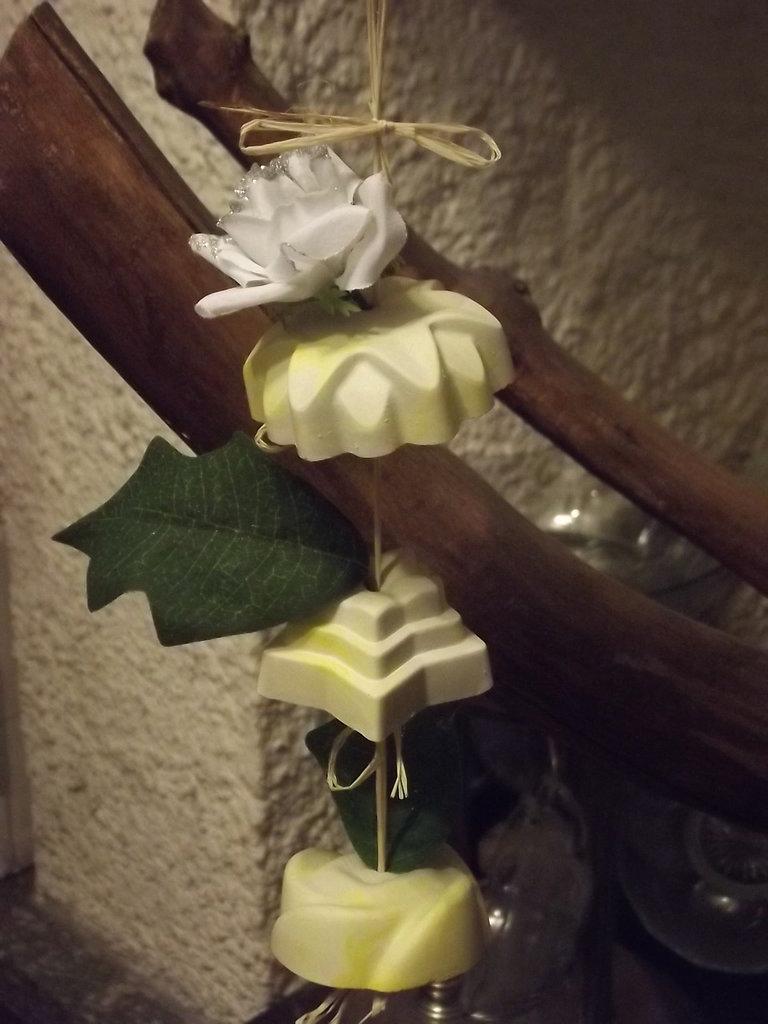 Ghirlanda di gesso profumata alla vaniglia