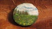 Medaglioni in legno dipinti a mano