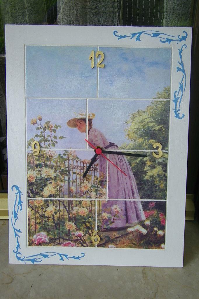 orologio con dama