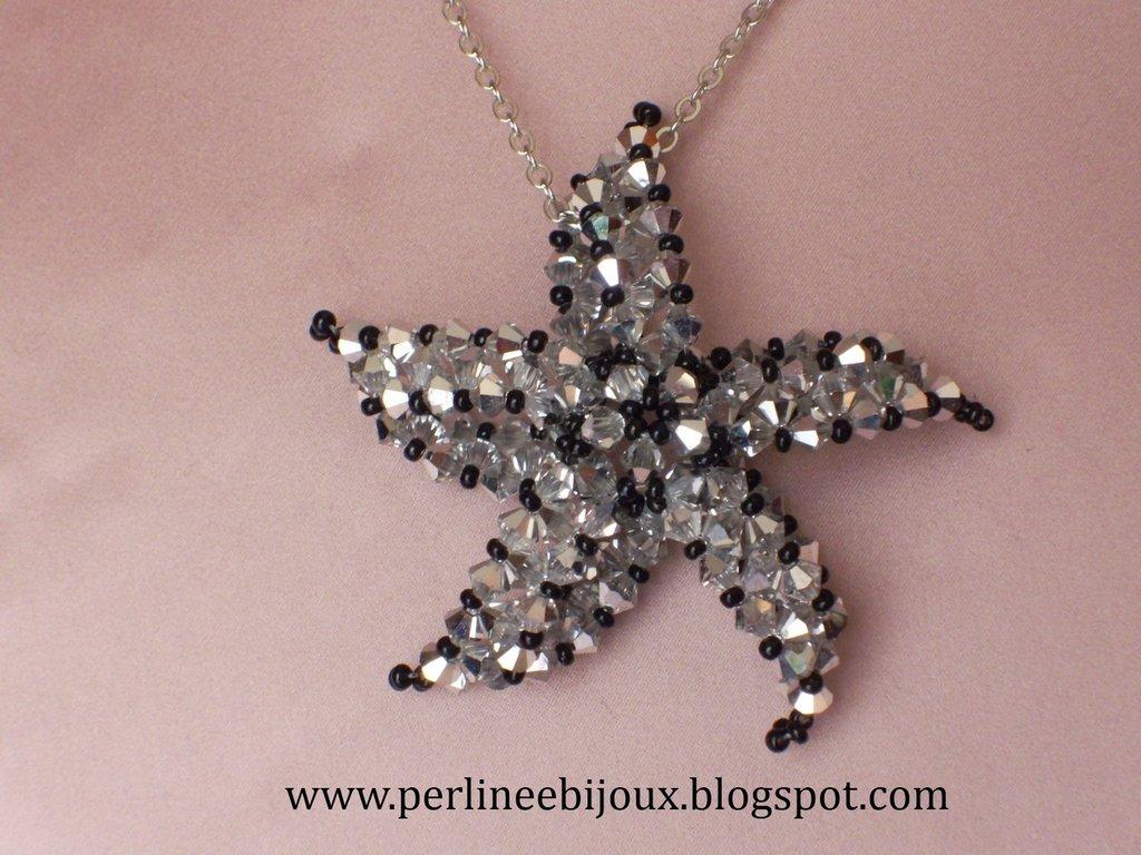 Ciondolo stella marina con bicono Swarovski