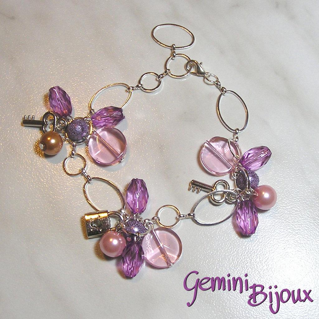 Bracciale rosa lilla purple