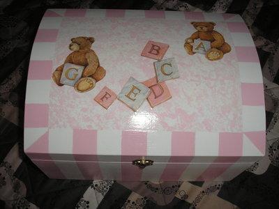 bauletto portaoggetti baby rosa