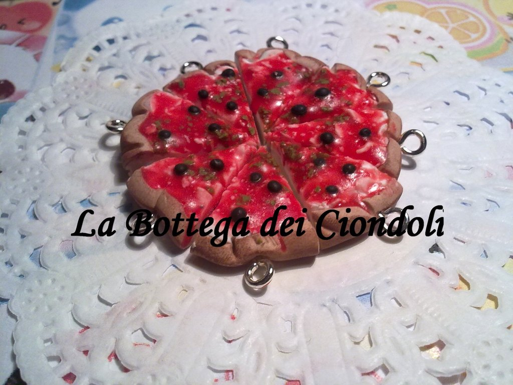 Saldi Ciondoli in fimo mini Pizza Margherita