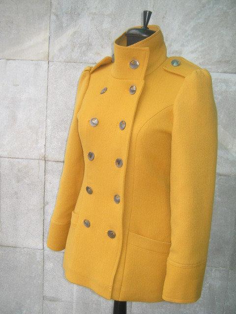Cappotto signora elegante-senape colore