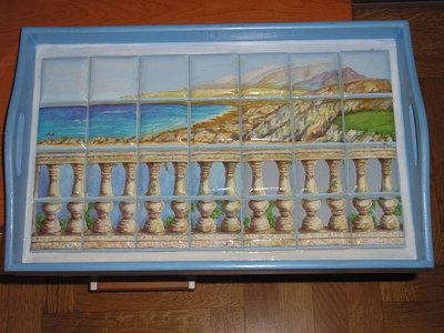 vassoio mosaico
