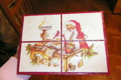 placca tiling babbo natale