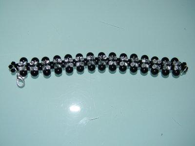 Bracciale perle nere