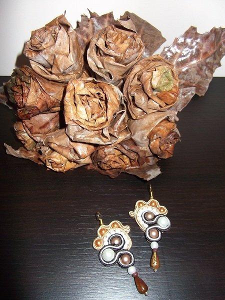 orecchini brown style