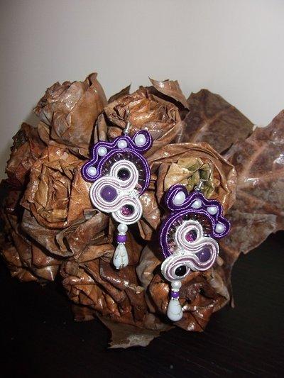 orecchini purple style