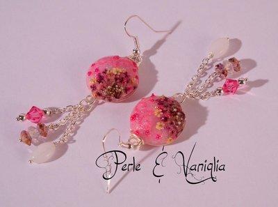 ♥ Bouquet in Rosa ♥ orecchini