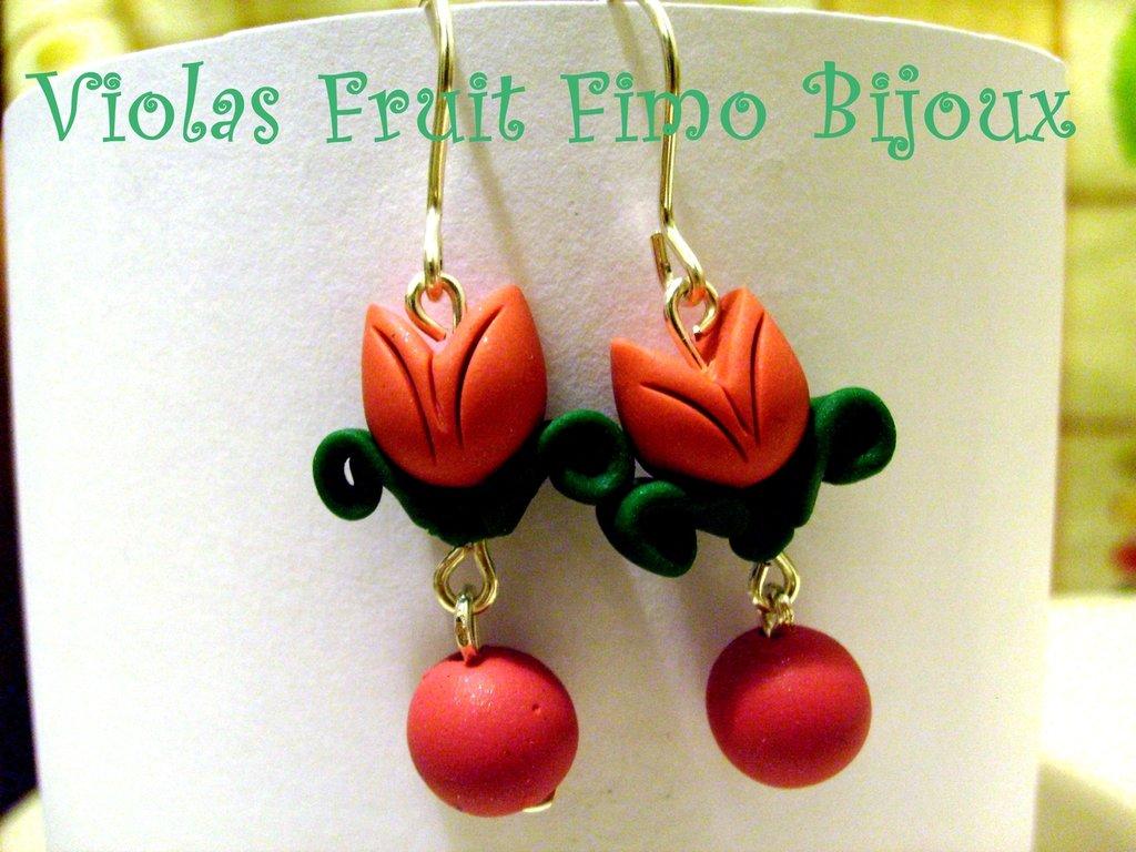 Orecchini tulipani pendenti