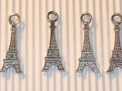 4 charms tour Eiffel piatte 32mm vend.