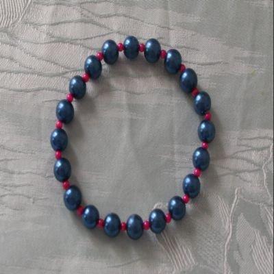 Bracciale in perle blu