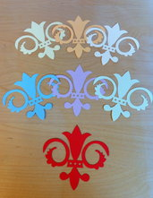 Fleur de Lis in cartoncino fustellato - abbellimenti