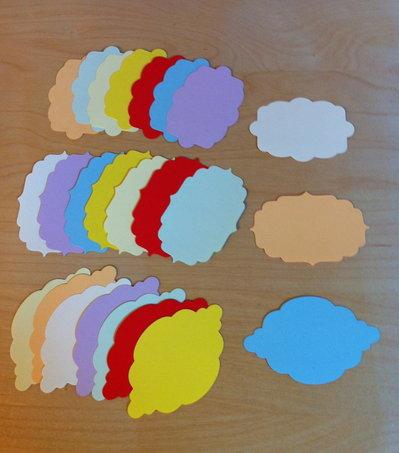 Tag - etichette in tre formati - abbellimenti