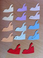 Sandali - Shoe #6 in cartoncino fustellato - abbellimenti