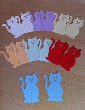 Gattini in cartoncino fustellato - abbellimenti