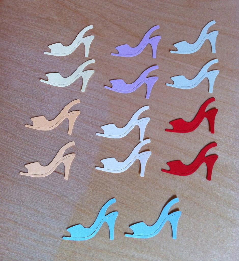 Scarpe - shoe #5 in cartoncino fustellato - abbellimenti