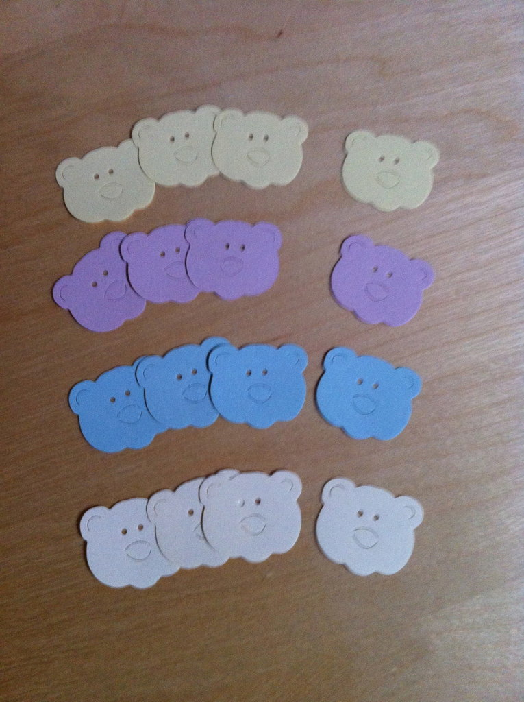 Orsi cartoncino fustellato - abbellimenti