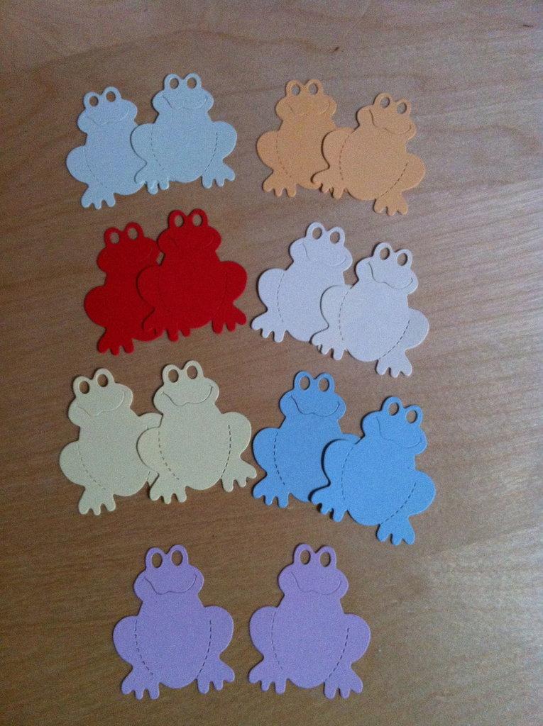 Rane - frog -in cartoncino fustellato - abbellimenti