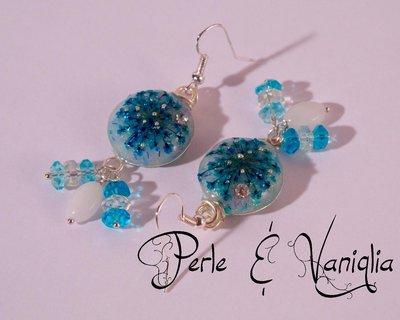 ♥ Bouquet in Azzurro ♥ orecchini
