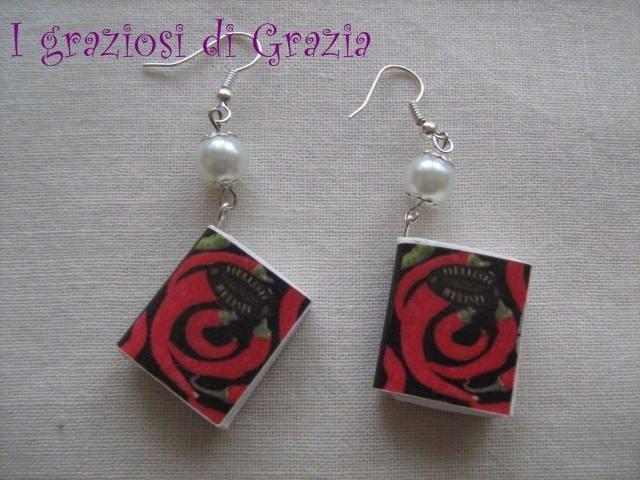 orecchini libro rose