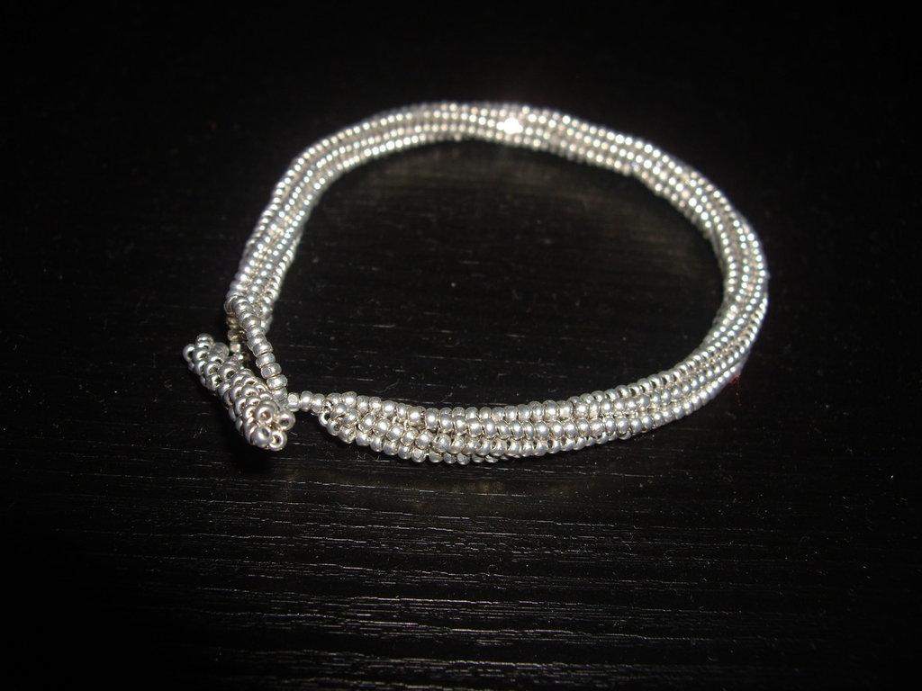 Silver Snake <bracelet>