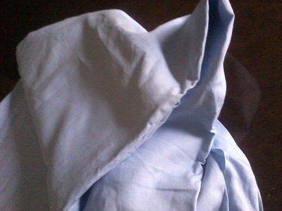 Tessuto in lino per lenzuolo matrimoniale celeste   SALDI!!!!