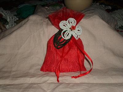 sacchettino natalizio di raso