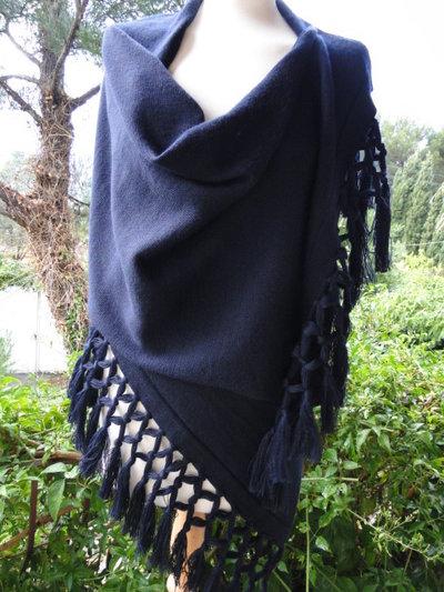 splendida stola - sciarpa  in pura lana merinos