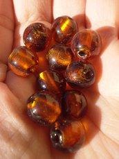 10 Perline Vetro color Caramello