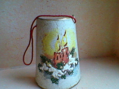 coppo in terracotta natalizio
