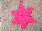 Stella di Natale lavorata a maglia