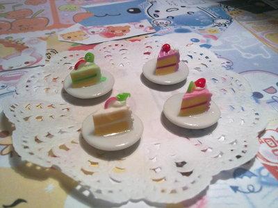 Fettina di torta su piattino