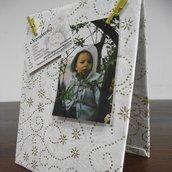 Portafoto in carta naturale con glitter