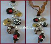 collana con pendente  dolci charms  in fimo fatto a mano