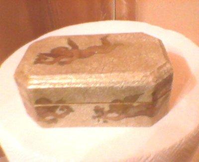 scatola in legno angeli
