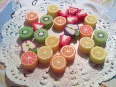 Perline fimo frutta