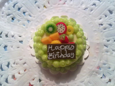 Miniatura torta rotonda compleanno