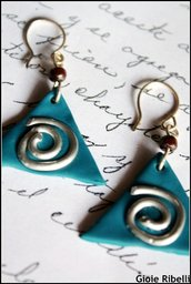 Swirly Earrings Dark Turquoise