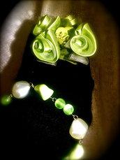 34.12 Bracciale Perle Verdi