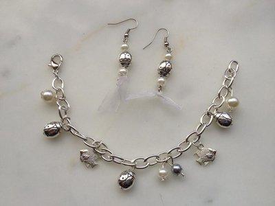 Set: bracciale + orecchini