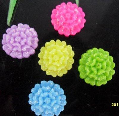 piccoli cabochon acrilici glitterati