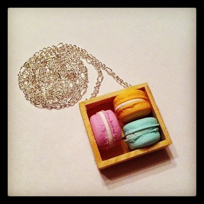 cestino di macarons