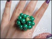 Anello perle verdi