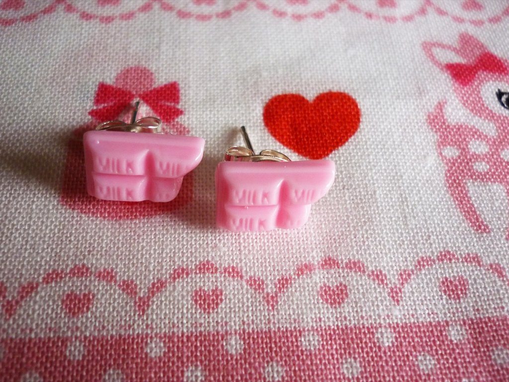 chocolate~ear rings