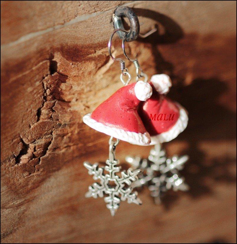 orecchini Cappello di Babbo Natale
